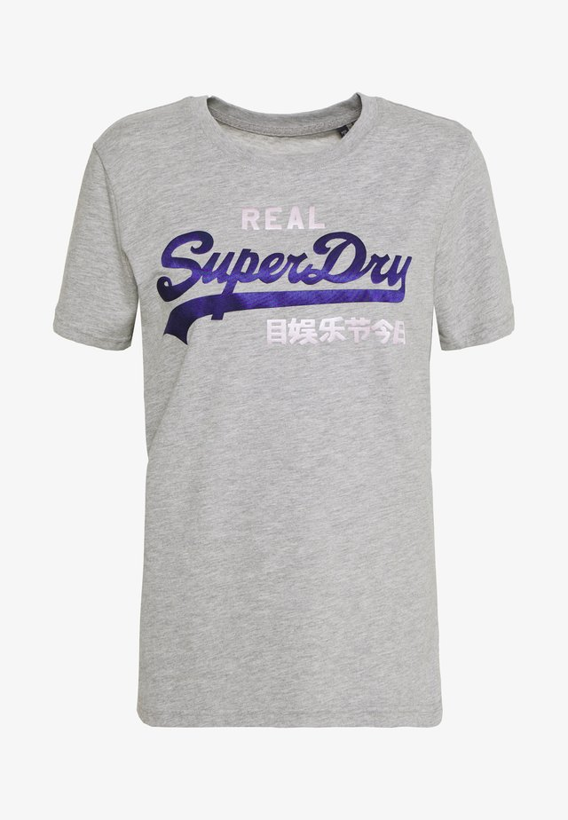 DUO ENTRY TEE - Print T-shirt - grey marl