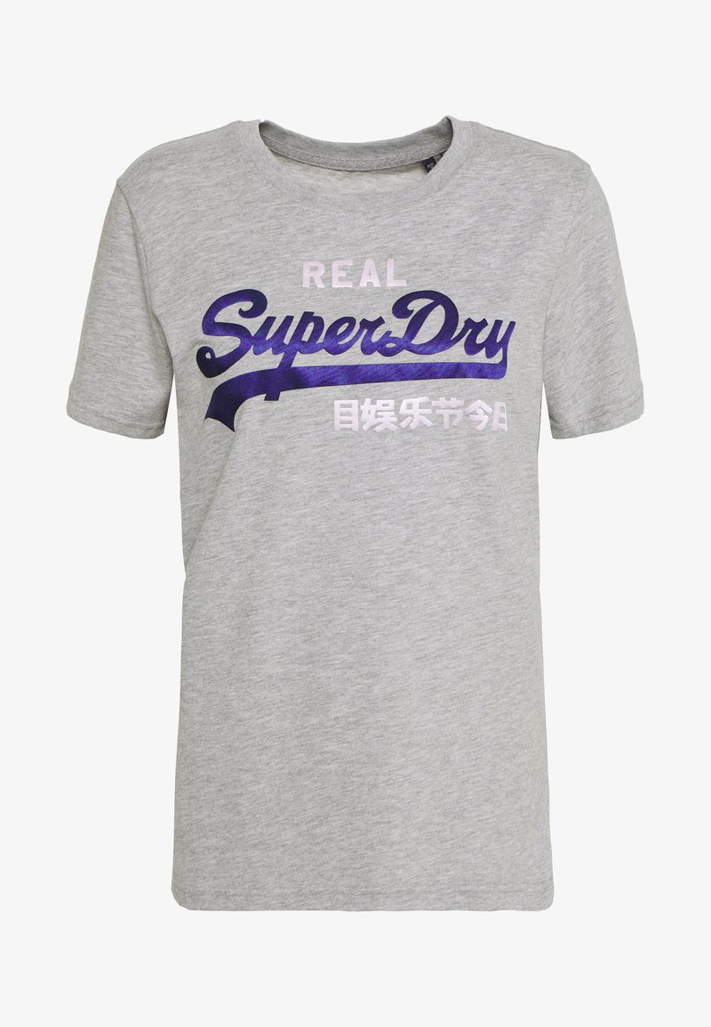 Superdry - DUO ENTRY TEE - T-shirts med print - grey marl