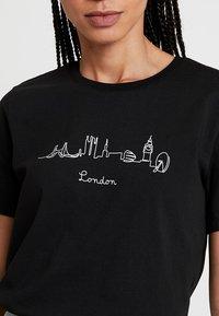 Even&Odd - Print T-shirt - black - 4