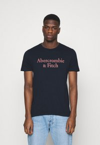 Abercrombie & Fitch - 3 PACK - T-shirt med print - white/navy/red - 4