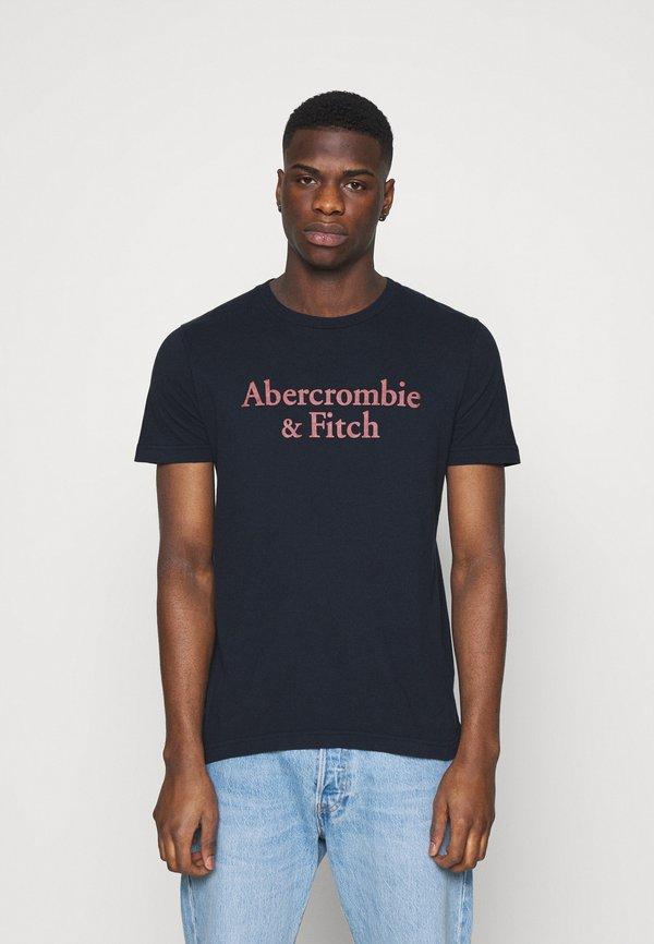 Abercrombie & Fitch 3 PACK - T-shirt z nadrukiem - white/navy/red/biały Odzież Męska RLUW
