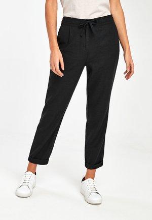 Trousers - metallic black