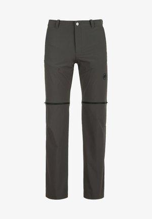 RUNBOLD ZIP OFF - Outdoor trousers - dark grey