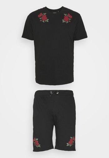 ROSE SET - T-shirt con stampa - black