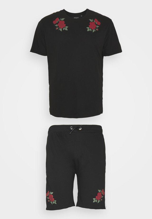 ROSE SET - T-shirt print - black