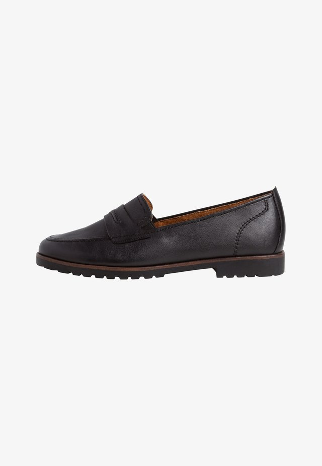Slipper - black leather