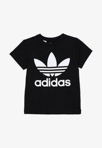 adidas Originals - TREFOIL - T-shirt imprimé - black/white - 2