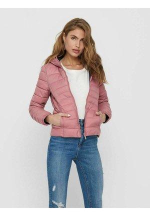 ONLNEWTAHOE CONTRAST HOOD JACKET  - Light jacket - withered rose