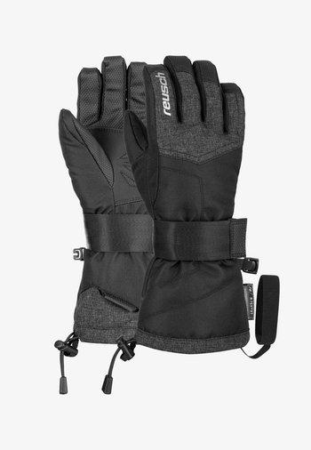 Gloves - blck/blck melange/silver