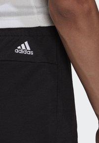 adidas Performance - ESSENTIALS SLIM LOGO SHORTS - Träningsshorts - black/white - 4