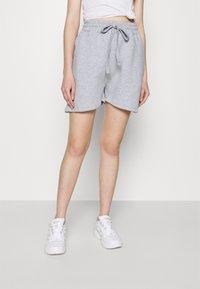 Missguided - OVERSIZED LONG LINE - Teplákové kalhoty - grey marl - 0