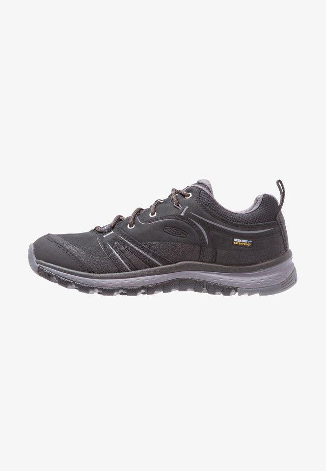 TERRADORA WP - Hiking shoes - black/steel grey