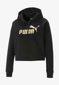 Puma - Felpa con cappuccio - black-gold - 0