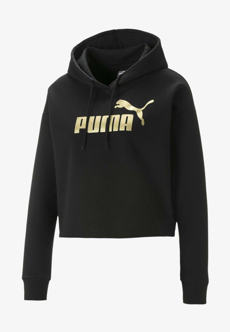 Puma - Felpa con cappuccio - black-gold