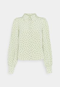 Monki - NALA BLOUSE - Button-down blouse - green dusty light - 4