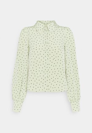 NALA BLOUSE - Button-down blouse - green dusty light