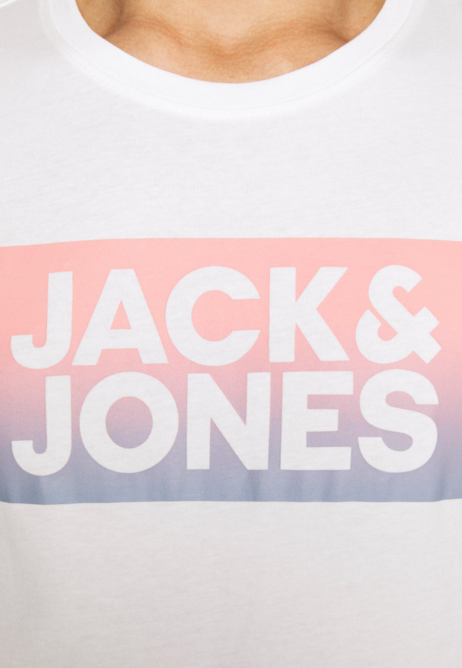 Jack & Jones JORCRUISE TEE CREW NECK - Print T-shirt - cloud dancer ubhlV