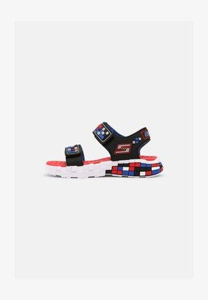 MEGA-CRAFT - Sandali - black/silver/blue/red