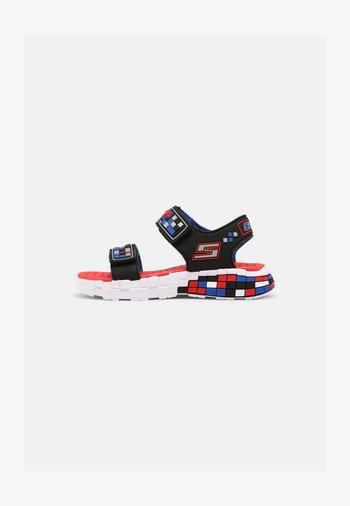 MEGA-CRAFT - Sandals - black/silver/blue/red