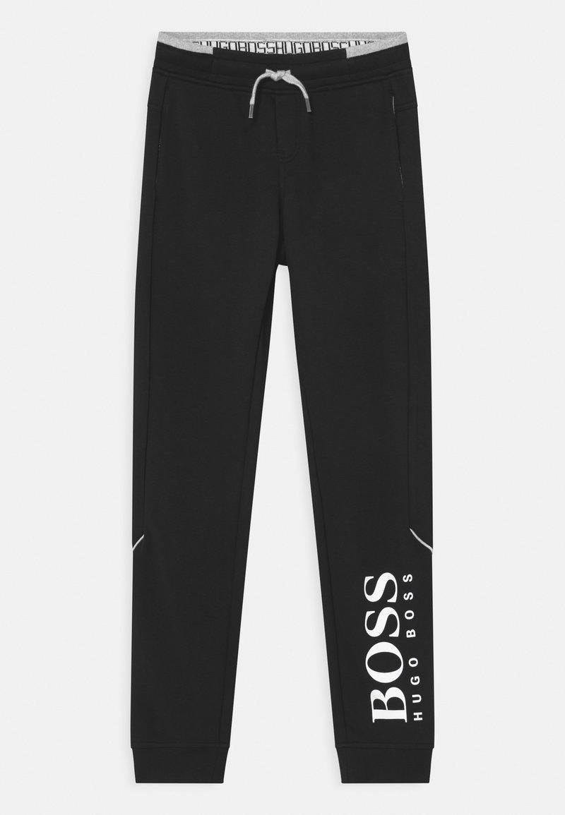 BOSS Kidswear - BOTTOMS - Teplákové kalhoty - black