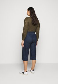 CAPSULE by Simply Be - PREMIUM JERSEY DENIM CULOTTES - Trousers - indigo - 2