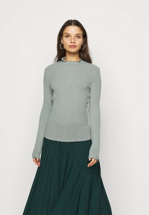 NMBERRY HIGH NECK - Jumper - slate gray