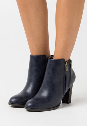 ASUMA - High heeled ankle boots - navy