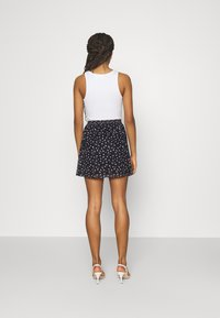 Even&Odd - A-line skirt - black/lilac - 2