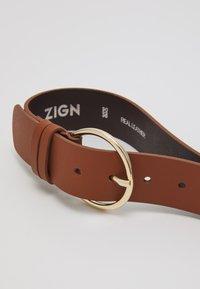 Zign - LEATHER - Belt - cognac - 2