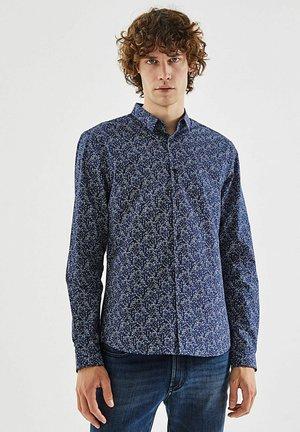 LONG BUTTONED SLEEVES - Shirt - bleu fonce