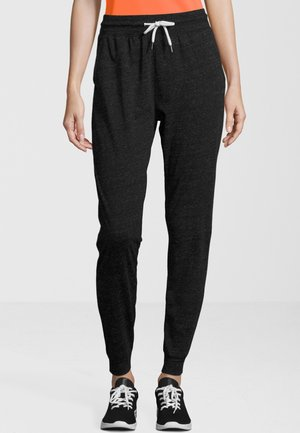 CLYNEN MIT KORDELZUG - Tracksuit bottoms - dark gray