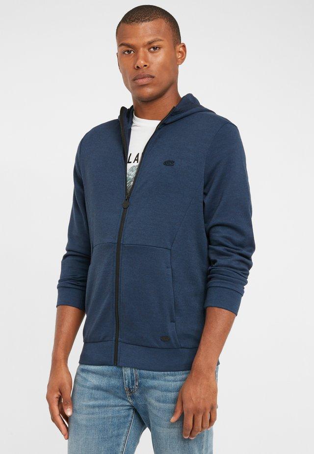 Zip-up hoodie - ink blue