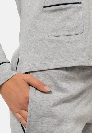 PIPINGS - Pyjama set - light grey melange