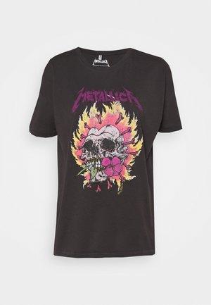 ONLMETALLICA LIFE BOX - T-shirt print - phantom