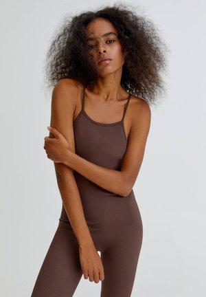COMFORT FIT  - Jumpsuit - mottled light brown