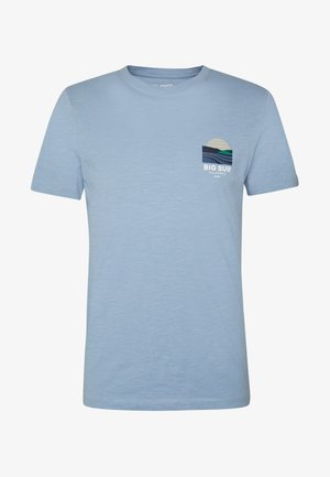JORSOUVENIR TEE CREW NECK - Basic T-shirt - ashley blue