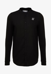 SIKSILK - GRANDAD COLLAR JLONG SLEEVE FITTED - Camicia - black - 3