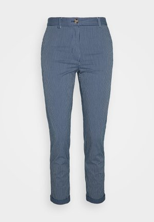 TICK STRIPE  - Pantalones chinos - blue