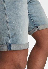 G-Star - 3301 SLIM SHORTS - Shorts di jeans - vintage nassau destroyed - 3