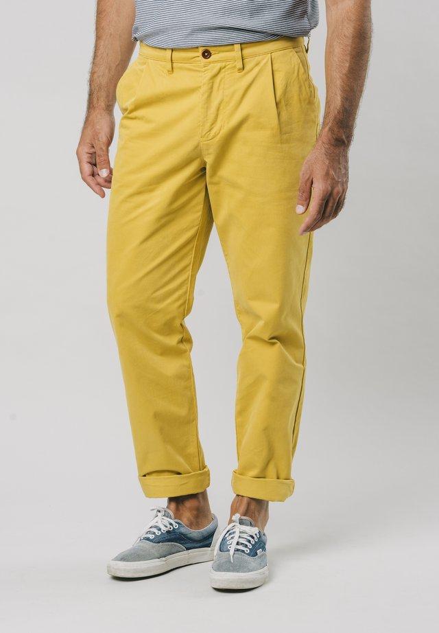 NARCISO PLEATED - Chinosy - yellow