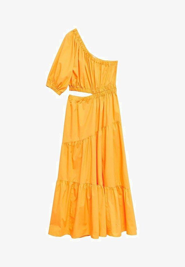 MIT SCHLITZ - Day dress - oransje