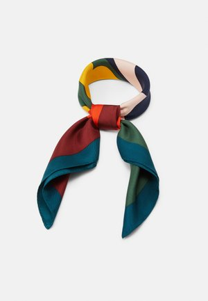 COLOR BLOCK LOGO NECKERCHIEF - Scarf - equestrian green