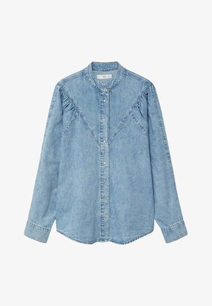 LOLA - Button-down blouse - middenblauw