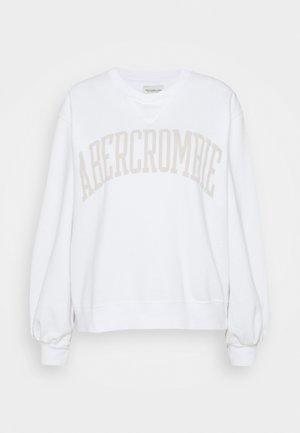 SEASONAL COLLEGIATE LOGO CREW - Sweatshirt - white