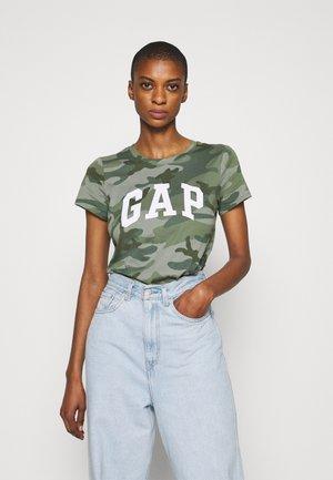 TEE - Print T-shirt - khaki