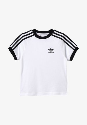 3 STRIPES TEE - T-shirt med print - white/black