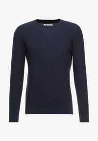 Pier One - Stickad tröja - mottled dark blue - 3