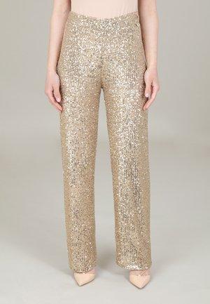 BRILLIANT - Pantaloni - gold