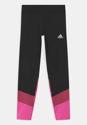 UNISEX - Leggings - black/pink/white