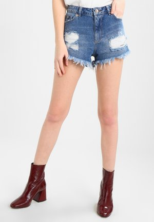 ELIZA CUT OFF  - Denim shorts - tide blue